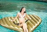 Gigante d'oro gonfiabile cuore Galleggiante per Mare e Piscina. Bambini e adulti piscina gigante gonfiabile cuore. Gonfiabile piscina giocattolo cuore di Integrity Co