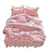 YMXJLXH Bettwäsche-Set, Baumwolle, 4-teilig, für den Winter, dick, Wollmantel aus Warmer Koralle 2 m Bett