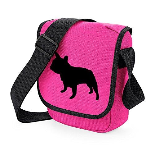 Bag Pixie ,  Unisex Erwachsene Umhängetaschen Black Dog Pink Bag