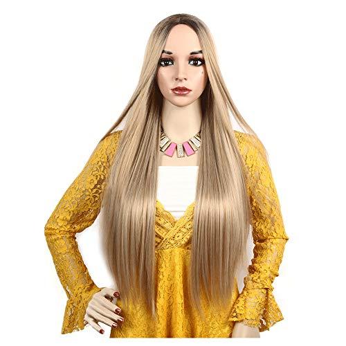 FENG LIAN Chemische Faser Perücke Kopfbedeckung Hochtemperatur Seide Gradienten braun europäischen und amerikanischen Frauen Modelle Stehendes Licht -
