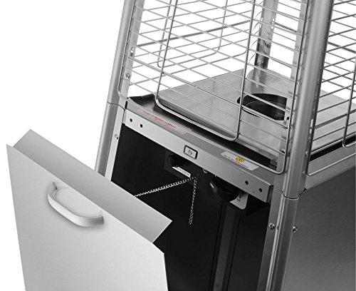 Heizstrahler Traedgard® Design Vesuvio Activa Cheops, mit Rollenset, Gastroset und SCHOTT Glasröhre - 6
