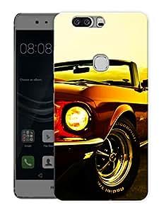 "Humor Gang Vintage Convertible CarPrinted Designer Mobile Back Cover For ""Huawei Honor V8"" (3D, Matte Finish, Premium Quality, Protective Snap On Slim Hard Phone Case, Multi Color)"