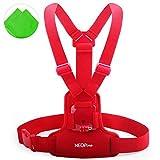 First2savvv GO-XXDD-A08G11 Brustgurt Halterung Chest Mount Chesty für GoPro Hero Camera 6 5 4 3+ 3 2 1 HERO4 Session sj4000 mit Reinigungstuch