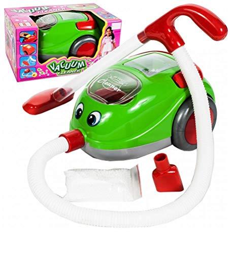Premium Genialer Kinderstaubsauger mit Saugfunktion Lichteffeten & Musik - Kinder Staubsauger Spielzeug Sauger Spielküche Spielzeugsauger Marke HUKITECH