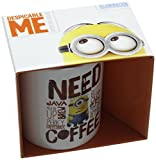 Pyramid International MG23092 Need Coffee Keramikbecher, Mehrfarbig, 8,5 x 12 x 10,5 cm