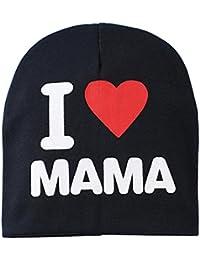 "Sanwood Warme Strickmütze, Baby, mit Beschriftung ""I Love Mama"" oder ""I Love Papa"""