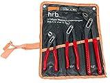 HRB Wasserpumpenzangen Satz 3-tlg. 175, 240, 300 mm Set in Rolltasche