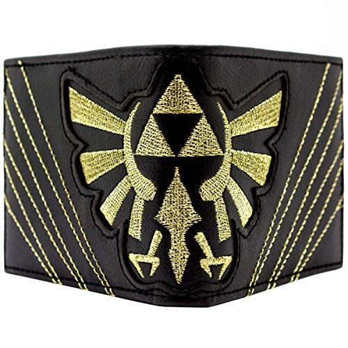 Cartera de Nintendo Zelda Triforce Stitched Negro