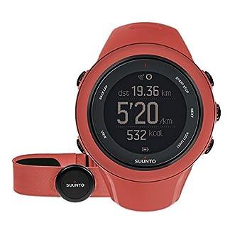 Suunto – Ambit3 Sport HR – SS021469000 – Reloj GPS Multideporte + Cinturón de frecuencia cardiaca (Talla M) – Sumergible 50 m – Rojo Coral