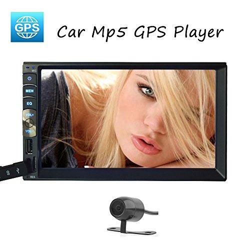 EinCar Linux estšŠreo del coche MP5 automš¢tico del sistema de všªdeo NO DVD reproductor de audio Radio GPS Cabeza navegaciš®n de la unidad multimedia del coche cubierta capacitiva 5-Pantalla tš¢ctil Bluetooth + HD que invierte la cš¢mara del