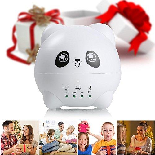 Easehold Diffuseur d'arôme 300ML Apparence de Panda Mignon Diffuseur d'huile essentielle Aromathérapie Humidificateur ultrasonique 7 lumières de couleur de LED pour la maison, yoga, bureau, chambre à coucher, pièce de bébé
