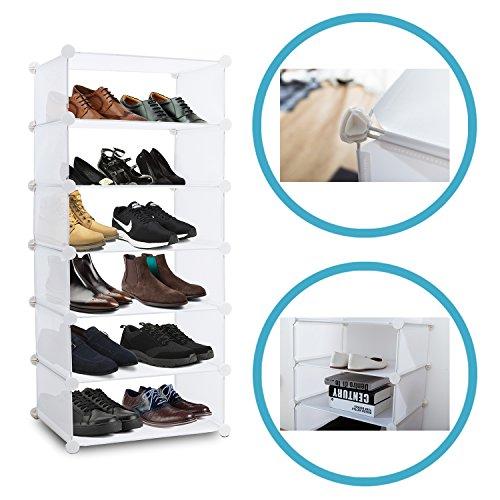 Sie Passen Eigenen Schuhe Ihre (Inxact Schuhregal – Schuhschrank zum einfachen Aufbau ohne Werkzeug 6 Fächer, Weiß)
