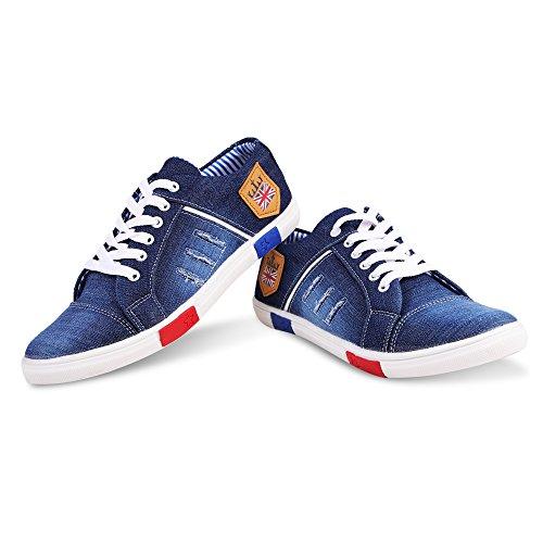 4. Ajay Footwear Men's Blue Denim Sneaker