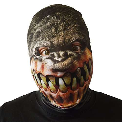 grauenhaft Gorilla Grin Gesichtsmaske Halloween Kostüm Erwachsene unheimlich Lycra Horror