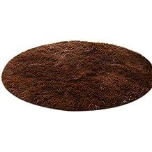 waygo forma redonda sólida cama sala de estar alfombra sala alfombra para Childern Play Yoga (café)