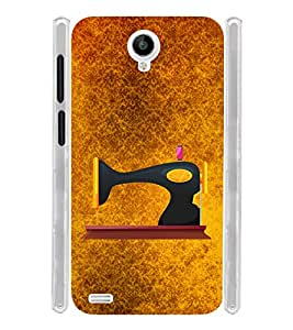 Sewing Machine Vintage Soft Silicon Rubberized Back Case Cover for Vivo Y22