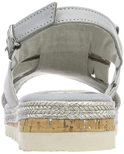Marco Tozzi Premio Damen 28614 Slingback Sandalen Blau (Denim Comb)