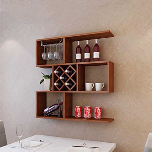 Ali@ Teakholz-Farbwein-Schrank-Wand-hängender dekorativer Rahmen-Weinregal-Wandregal Restaurant-Verzierungen Weinregal Moderner minimalistischer Weinkühler-Wein-Gitter (größe : 100cm)