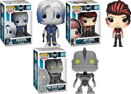 Funko POP Ready Player One Parzival Art3mis The Iron Giant Stylized Vinyl Figure Bundle Set NEW