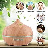 Aroma Diffuser 400ml Tenswall Luftbefeuchter Oil Düfte Humidifier Holzmaserung LED mit 7 Farben für für Yoga Salon Spa Wohn-, Schlaf-, Bade- oder Kinderzimmer Büro - 4