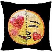 Coussin&Oreiller,Manadlian Adorable deux côtés deux humeurs oreiller housse case Cafe Home Decor coussin (40_x_40_cm, D)