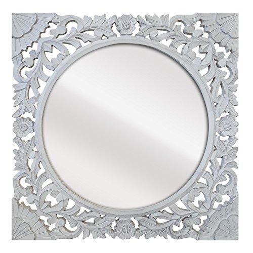 -Espejo Fabricado España Decorado Mano- Medida Exterior