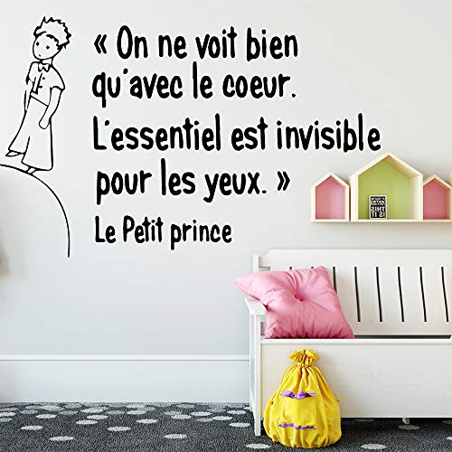 Große Größe Nette Französisch Le Petit Prince Wandkunst Aufkleber Wandkunst Aufkleber Wandbilder Für Wohnkultur Kinderzimmer Dekoration Tapete Rosa 58 * 91 cm