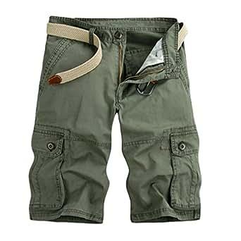 ZKOO Cargo Shorts Herren Baumwolle Kurze Hose Bermuda