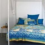 Bassetti Granfoulard.- Duvet cover set Vietri V3 blue 240 x 220 cm (4 pieces) in