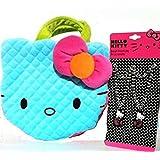 HELLO KITTY Cute Plush Neon Handbag & Bracelets BUNDLE