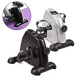 2in1 Arm und Beintrainer mini Bike Heimtrainer Muskulatur Trainer Fitness Gerät (Silbern)