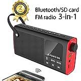 Avantree Altavoz Portátil Bluetooth con Radio FM y Reproductor Tarjetas SD, Auto Escaneo y Memoria de Emisora con Un Sólo Toque, Batería Remplazable, seis Ecualizaciones