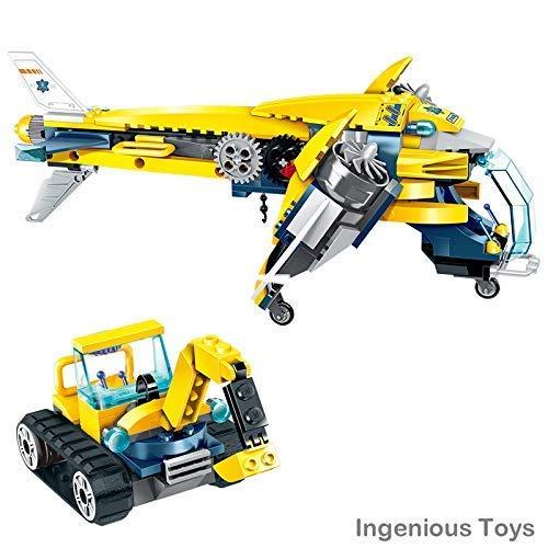 ckstück Bergleute - The Transporter Flugzeug & Bagger 3 Minifiguren Box Set BAU Block #B408 ()