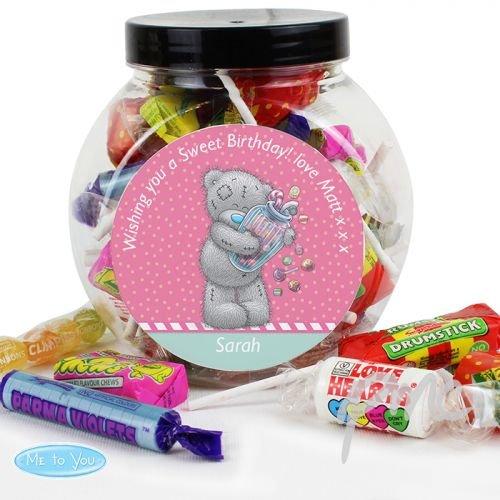 personalisierbar Me to You Candy Girl Süßigkeiten Jar - Süßigkeiten Candy Jar