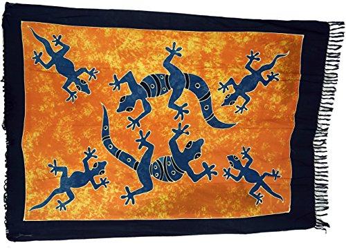 Guru-Shop Sarong, Wandbehang, Wickelrock, Sarongkleid, Herren/Damen, Orange, Synthetisch, Size:One Size, 160x100 cm, Sarongs, Strandtücher Alternative Bekleidung