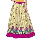 Admyrin Women Gold and Pink Satin Skirt ...