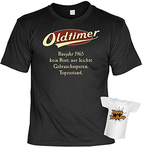 cooles Fun-T-Shirt Motiv Oldtimer 51 für Damen Herren Baujahr 1965 Farbe schwarz ideales Geschenk Schwarz