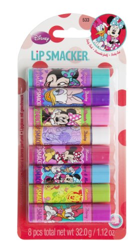 Lip Smacker Disney Minnie und Daisy Lip Balm 8 Stck Party Pack - Tasche Duck Make-up Daisy