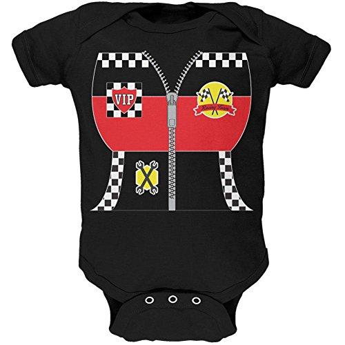 Halloween-Hot Rod Kostüm Racing weiches Baby Einteiler schwarz 12 (Rod Kostüme Hot)