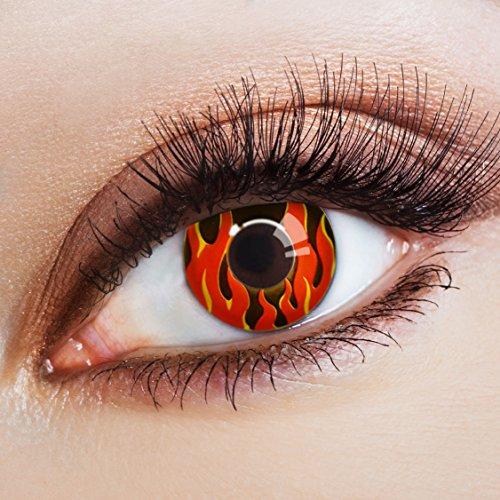 aricona Farblinsen rote Kontaktlinsen zum Halloween Kostüm / Faschingskostüme