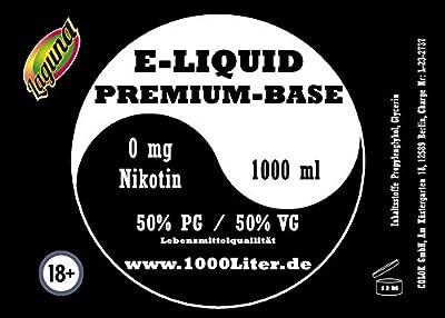"E Liquid Base 1L PUR Vape OHNE Nikotin 0 1000 ml 50 PG/50 VG "" Laguna Yinyang"" von Colok GmbH"
