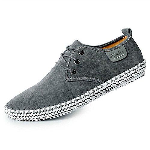 Custome uomo scamosciato pelle scarpe allacciare sneaker mocassini leggero piatto morbido durevole fatto a mano antiscivolo scarpe giallo