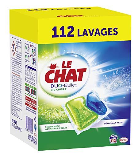 L'Expert Duo-Bulles Lessive Capsules 112 Lavages,LE CHAT,