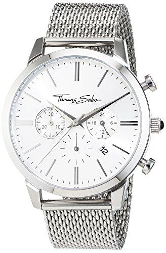 00b279db799a Thomas Sabo Hombre Reloj de pulsera Eternal Chrono Malla Silver Cronógrafo  Cuarzo Acero inoxidable wa0244 –