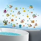 Pvc-glas-tür-wandtattoo,Badezimmer schrank dekorative kinder zimmer cartoon wand sticker selbstklebend wasserdichte badezimmerfliesen-B 45x60cm(18x24inch)