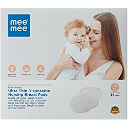 Mee Mee Ultra Thin Super Absorbent Disposable Nursing Brest Pads 40+8 Pads free (48 Pads)