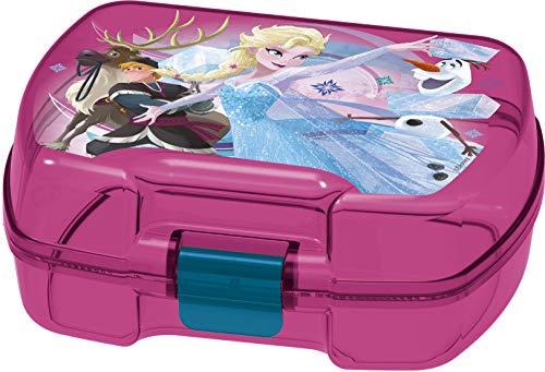 ALMACENESADAN 2000, Sandwich Maker rechteckig rechteckig Disney Frozen, Kunststoffprodukt; BPA frei; Abmessungen 18x14x7 cm
