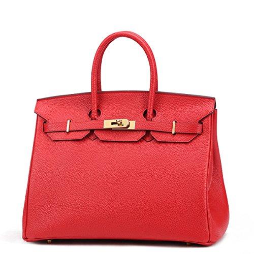 Platinum Lychee Modello Spoof Leather Mini Europa E Le Borse Degli Stati Uniti Red