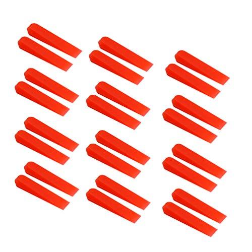 UKCOCO 1000 unids Red Wedges Anti Lippage sistema de nivelación de azulejos cuñas herramienta para el piso de la pared para bloquear en su baldosa grande y pesada