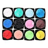 Bluelover 12 Couleurs Sculpture 3D Peinture Découpée Nail Art Dessin Acrylique Uv Gel Set